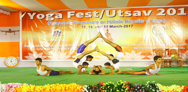 An Awareness Programme on Yoga for Holistic Health & Well-being at Belur Campus – March 2017