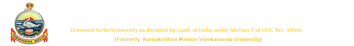 Research | Ramakrishna Mission Vivekananda Educational & Research Institute